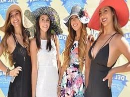 beautiful women del mar races hats