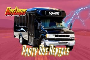 Image of 18 Passenger Party Bus for San Diego Party Bus events by San Diego Hotlimos