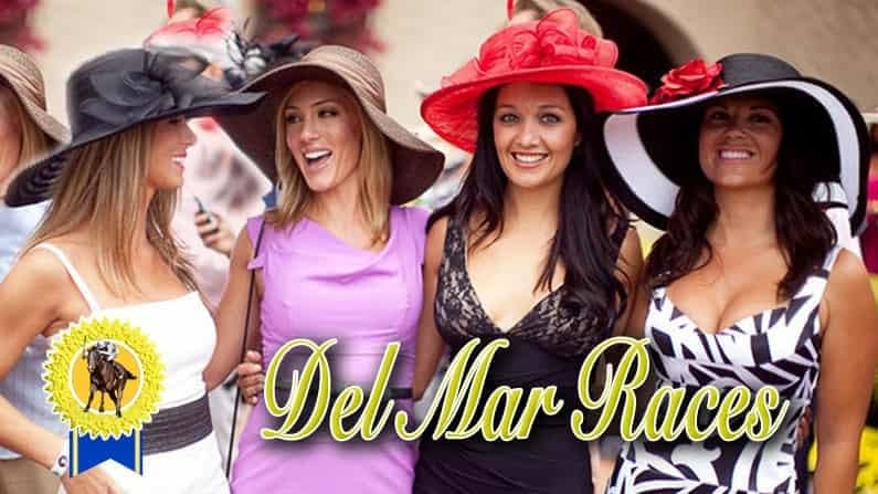 Opening Day at the Races Women with Hats for Hotlimos