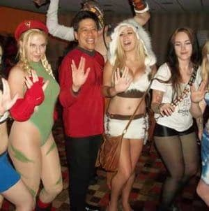 star trek girls at a comic con party